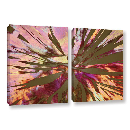 Brushstone Abini Succulent 2-pc. Gallery Wrapped Canvas Wall Art