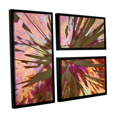 Brushstone Abini Succulent 3-pc. Flag Floater Framed Canvas Wall Art