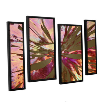 Brushstone Abini Succulent 4-pc. Floater Framed Staggered Canvas Wall Art