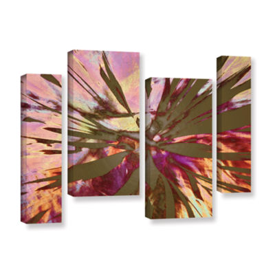 Brushstone Abini Succulent 4-pc. Gallery Wrapped Staggered Canvas Wall Art