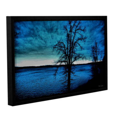 Brushstone After the Storm Gallery Wrapped Floater-Framed Canvas Wall Art