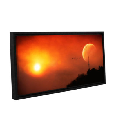 Brushstone Above the Sun Gallery Wrapped Floater-Framed Canvas Wall Art