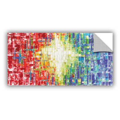 Brushstone Abs White Multicolor Removable Wall Decal