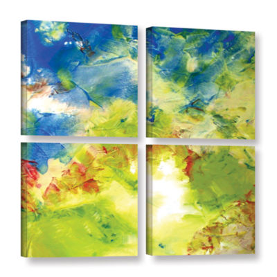 Brushstone Abstract 236 4-pc. Square Gallery Wrapped Canvas