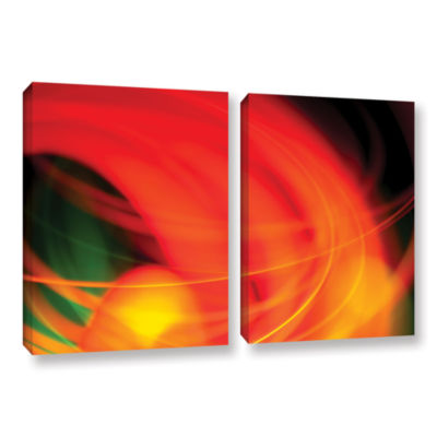 Brushstone Abstract 2-pc. Gallery Wrapped Canvas Wall Art