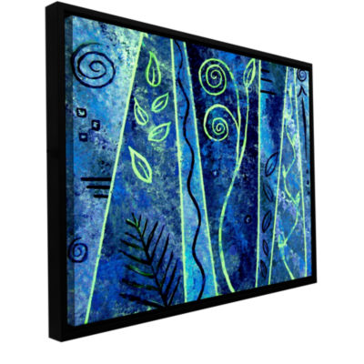 Brushstone Abstract 417 Gallery Wrapped Floater-Framed Canvas Wall Art