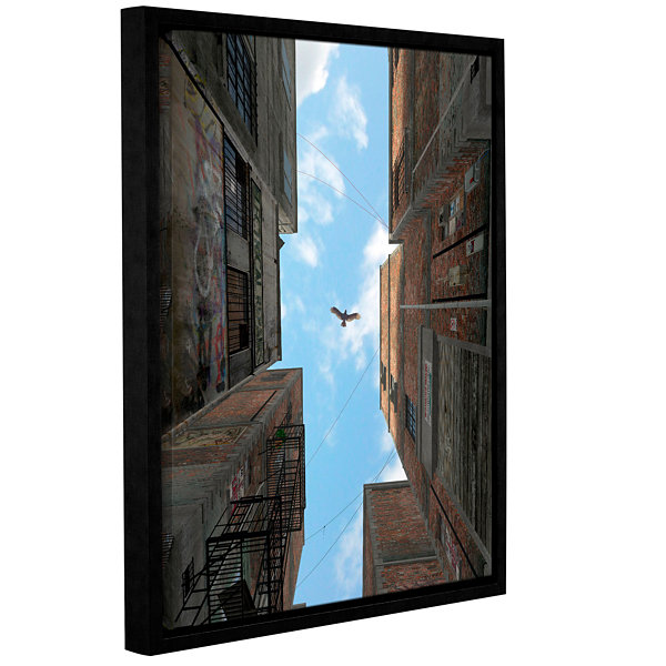Brushstone Afternoon Gallery Wrapped Floater-Framed Canvas Wall Art