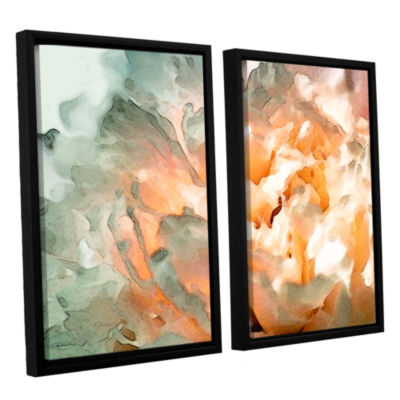 Brushstone Abstract Carnation 2-pc. Floater FramedCanvas Wall Art