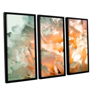 Brushstone Abstract Carnation 3-pc. Floater FramedCanvas Wall Art