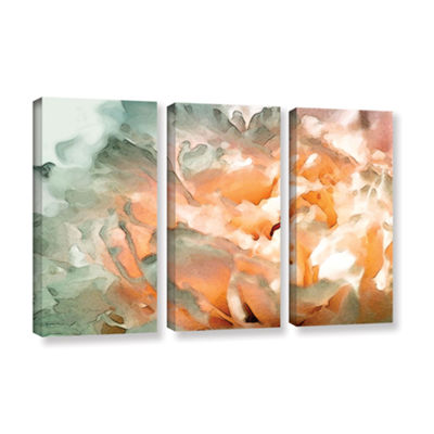 Brushstone Abstract Carnation 3-pc. Gallery Wrapped Canvas Wall Art