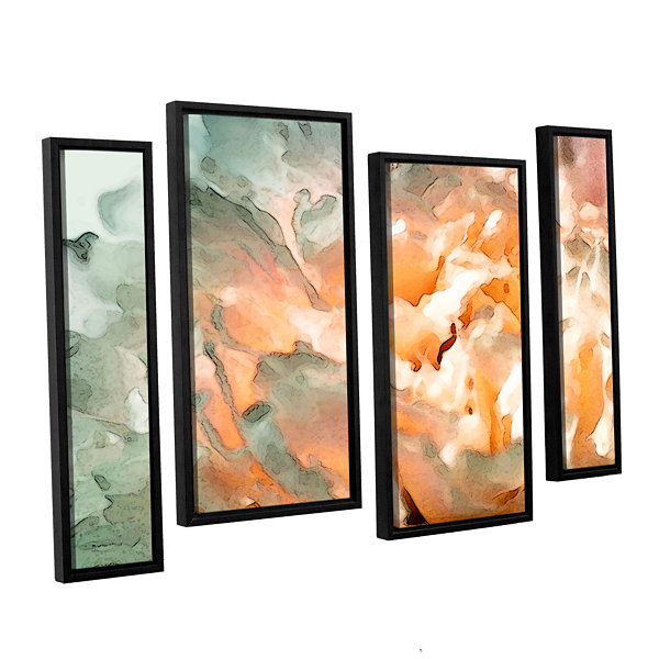 Brushstone Abstract Carnation 4-pc. Floater FramedStaggered Canvas Wall Art