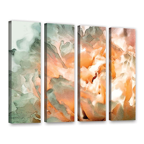Abstract Carnation 4-pc. Gallery Wrapped Canvas Wall Art
