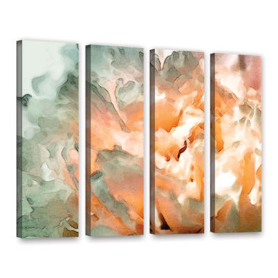 Brushstone Abstract Carnation 4-pc. Gallery Wrapped Canvas Wall Art