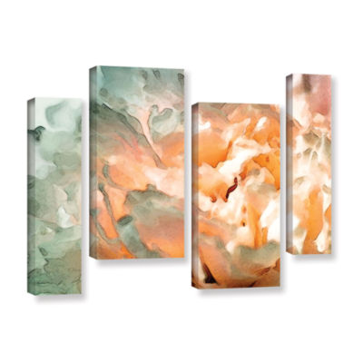 Brushstone Abstract Carnation 4-pc. Gallery Wrapped Staggered Canvas Wall Art