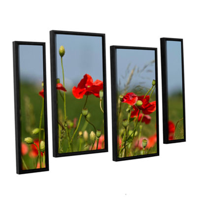 Brushstone 3097a 4-pc. Floater Framed Staggered Canvas Wall Art