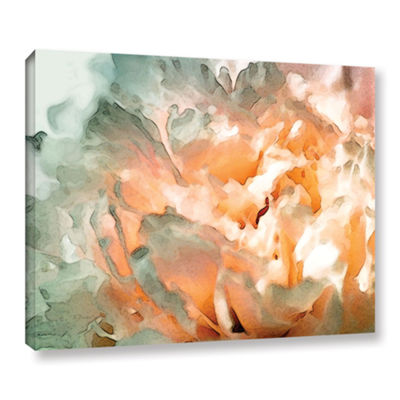 Brushstone Abstract Carnation Gallery Wrapped Canvas Wall Art