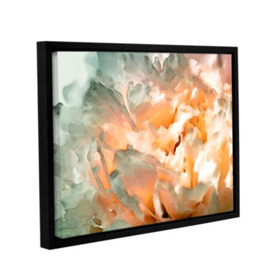 Brushstone Abstract Carnation Gallery Wrapped Floater-Framed Canvas Wall Art