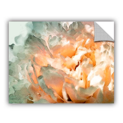 Brushstone Abstract Carnation Removable Wall Decal
