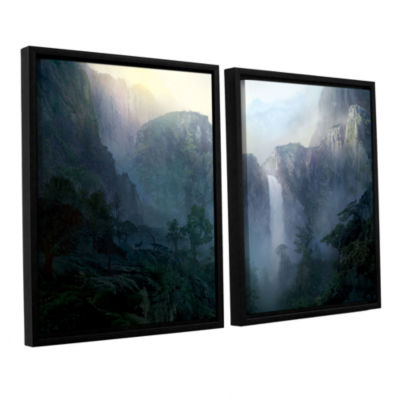 Brushstone Afternoon Light 2-pc. Floater Framed Canvas Wall Art
