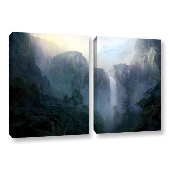 Brushstone Afternoon Light 2-pc. Gallery Wrapped Canvas Wall Art