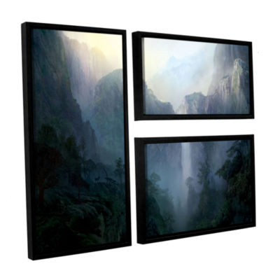 Afternoon Light 3-pc. Flag Floater Framed Canvas Wall Art