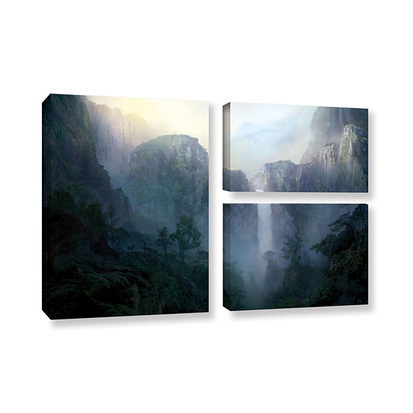 Brushstone Afternoon Light 3-pc. Flag Gallery Wrapped Canvas Wall Art