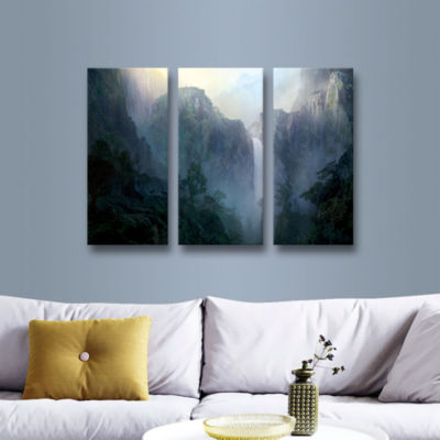 Brushstone Afternoon Light 3-pc. Gallery Wrapped Canvas Wall Art