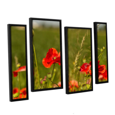 Brushstone 3114a 4-pc. Floater Framed Staggered Canvas Wall Art