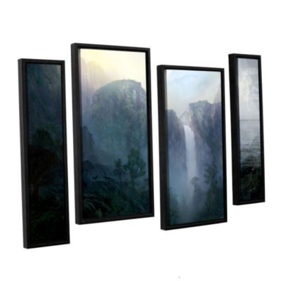 Brushstone Afternoon Light 4-pc. Floater Framed Staggered Canvas Wall Art