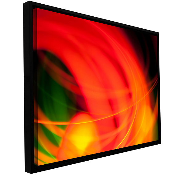Brushstone Abstract Gallery Wrapped Floater-FramedCanvas Wall Art