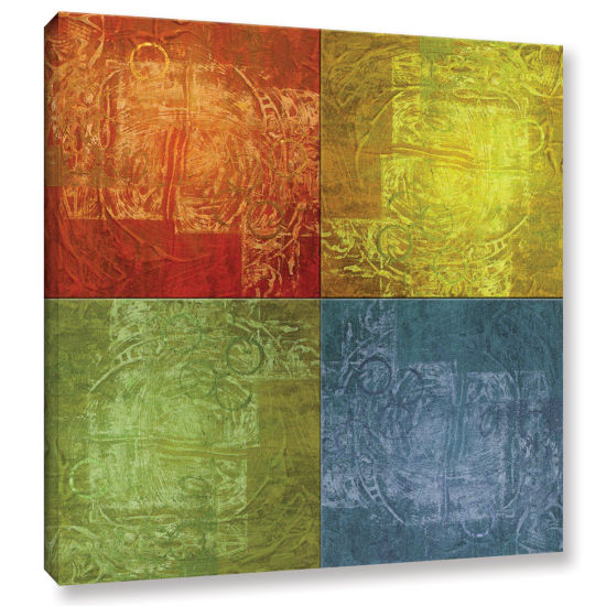 Brushstone 4 Lights Gallery Wrapped Canvas Wall Art