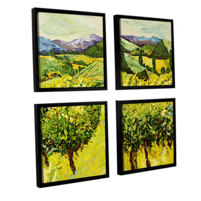 Brushstone A Good Year 4-pc. Square Floater FramedCanvas