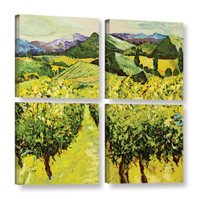 Brushstone A Good Year 4-pc. Square Gallery Wrapped Canvas