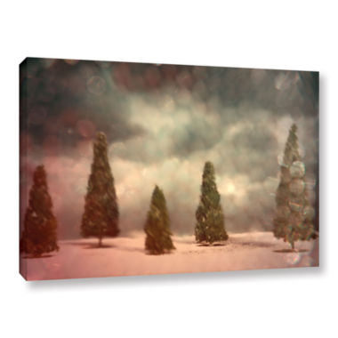 Brushstone 5 Pine Gallery Wrapped Canvas Wall Art