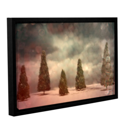 Brushstone 5 Pine Gallery Wrapped Floater-Framed Canvas Wall Art