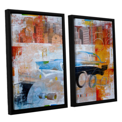 Brushstone 56 in the city 2-pc. Floater Framed Canvas Wall Art
