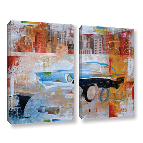56 in the city 2-pc. Gallery Wrapped Canvas Wall Art