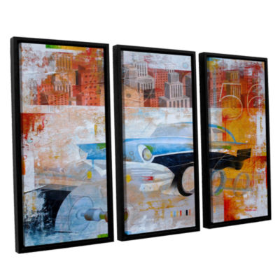 Brushstone 56 in the city 3-pc. Floater Framed Canvas Wall Art