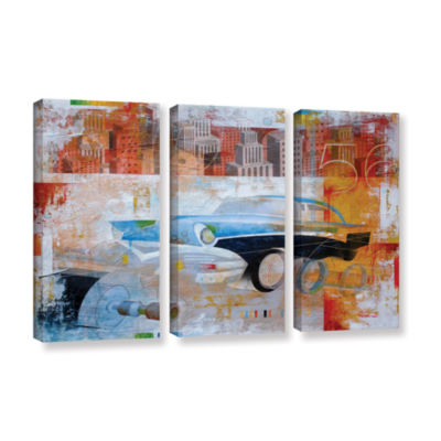 56 in the city 3-pc. Gallery Wrapped Canvas Wall Art