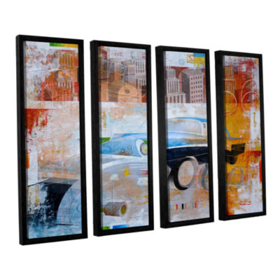 56 in the city 4-pc. Floater Framed Canvas Wall Art