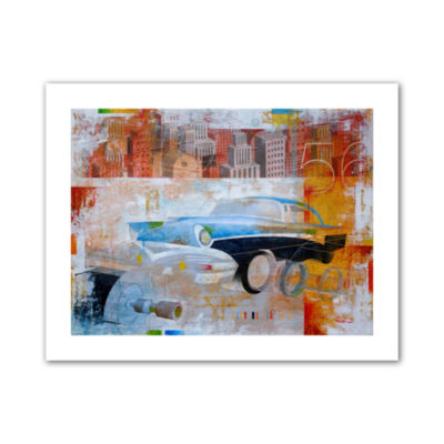Brushstone 56 in the city Canvas Wall Art