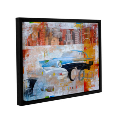 Brushstone 56 in the city Gallery Wrapped Floater-Framed Canvas Wall Art