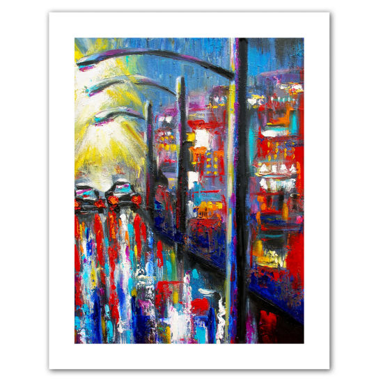 Brushstone 8 O'Clock Street Lights Canvas Wall Art