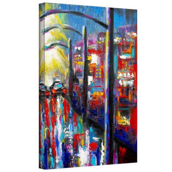 Brushstone 8 O'Clock Street Lights Gallery WrappedCanvas Wall Art