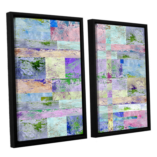 Brushstone Abstract I 2-pc. Floater Framed CanvasWall Art