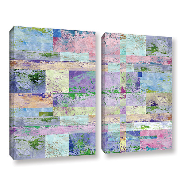 Brushstone Abstract I 2-pc. Gallery Wrapped CanvasWall Art