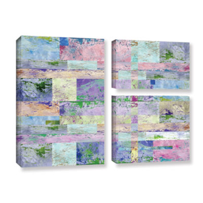 Abstract I 3-pc. Flag Gallery Wrapped Canvas WallArt