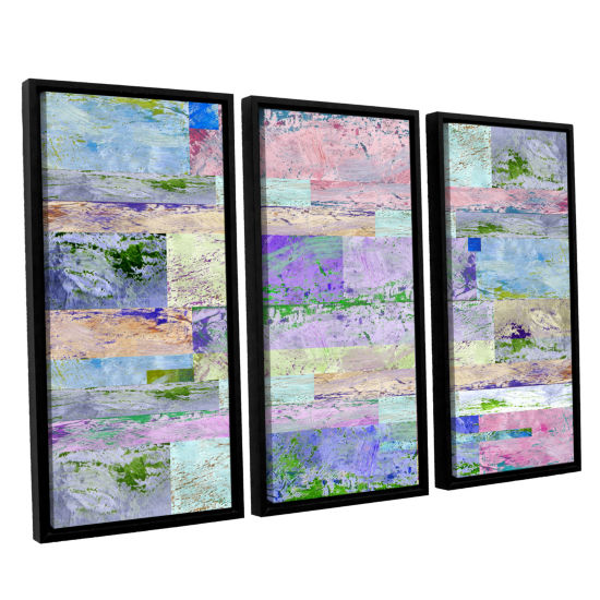 Brushstone Abstract I 3-pc. Floater Framed CanvasWall Art