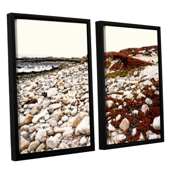 Brushstone A Pebble Beach 2-pc. Floater Framed Canvas Wall Art