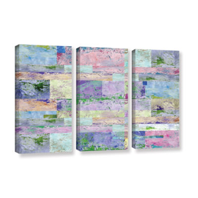 Brushstone Abstract I 3-pc. Gallery Wrapped CanvasWall Art